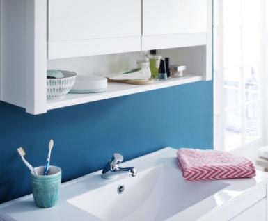 Badmöbel Set Ole Landhaus weiß 3-teilig komplett mit Keramik-Waschbecken 61 x 192 cm - Vorschau 3