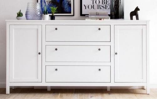Kommode Ole in weiß Sideboard für Flur Esszimmer und Wohnzimmer Anrichte 183 x 98 cm - Vorschau 2