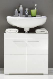 Waschbecken Unterschrank Amanda 2-türig hochglanz weiß tiefgezogen