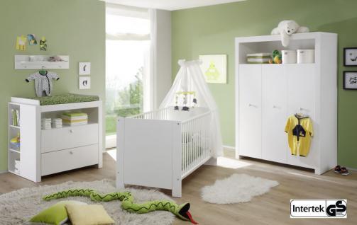 Babyzimmer Set Olivia komplett weiß 5-teilig inkl. Applikationen in blau - Vorschau 4