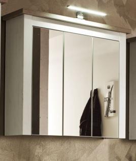Badmöbel Spiegelschrank Landhaus Lotte In Pinie Struktur Weiß Und
