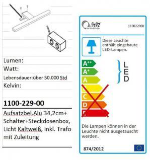 Badmöbel Set Amanda Hochglanz weiß tiefgezogen Spiegelschrank + Unterschrank inkl. Beleuchtung - Vorschau 4