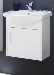 Waschbeckenunterschrank Komplett Mit Keramik Waschbecken Hochglanz