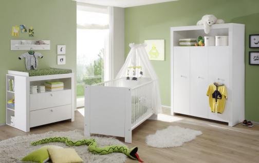 Babyzimmer Set Olivia weiß 2-teilig Babybett und Kleiderschrank - Vorschau 2