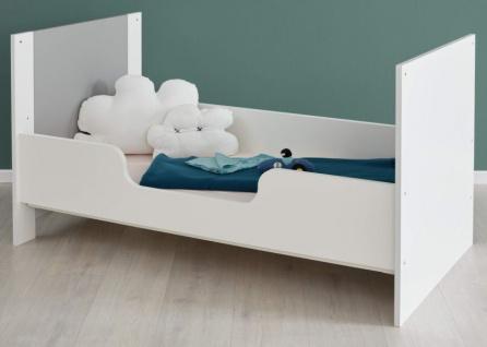 Babyzimmer Wilson komplett Set 2-teilig weiß und grau mit Wickelkommode und Babybett - Vorschau 5