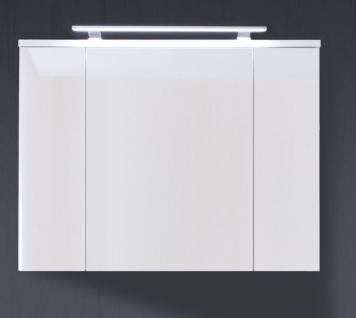 Spiegelschrank Schrank Adamo weiß Hochglanz tiefzieh Breite 100 cm - Vorschau 2