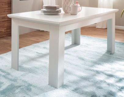 Esstisch Baxter in weiß Landhaus Küchentisch ausziehbar 160 / 200 x 90 cm