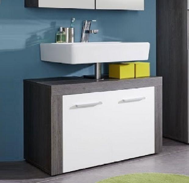 waschbeckenunterschrank miami badm bel sardegna rauchsilber grau mit wei 72 x 56 cm kaufen. Black Bedroom Furniture Sets. Home Design Ideas