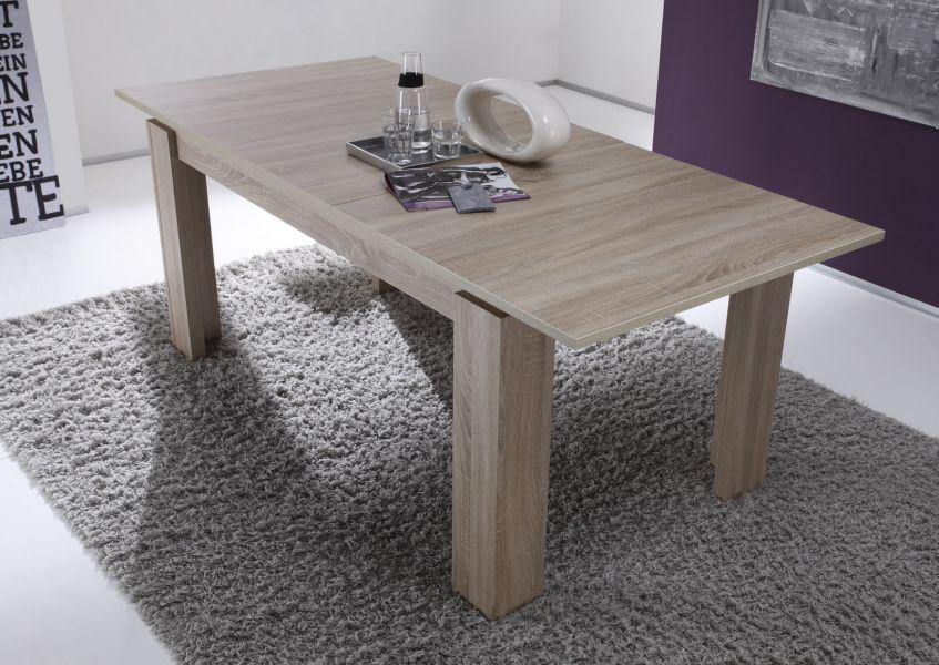 esstisch ausziehtisch ge1169 san remo eiche hell melamin 160 cm ausziehbar 200 cm mit. Black Bedroom Furniture Sets. Home Design Ideas