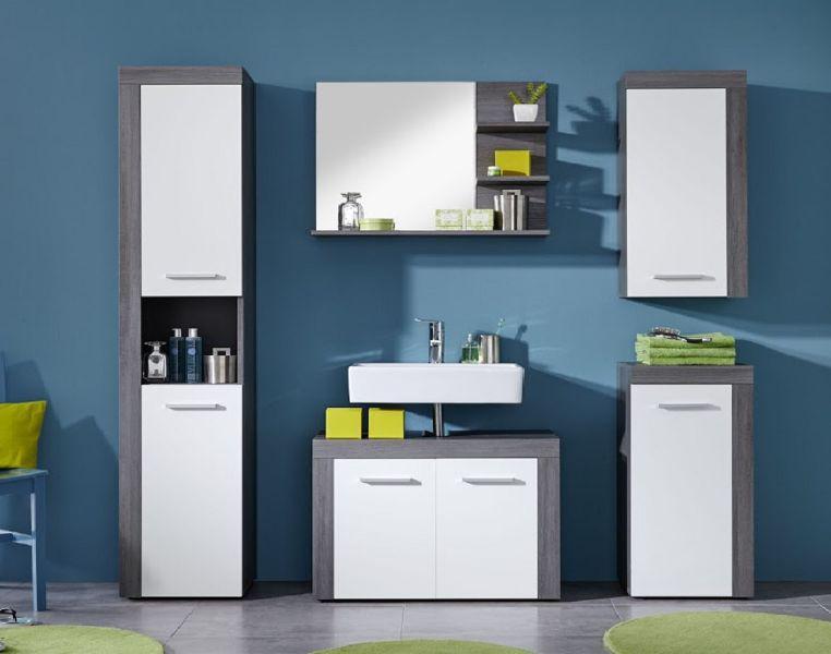 unterschrank kommode miami badezimmer schrank sardegna rauchsilber grau mit wei kaufen bei oe. Black Bedroom Furniture Sets. Home Design Ideas