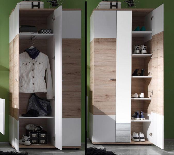 garderoben set flurgarderobe campus 3 teilig san remo. Black Bedroom Furniture Sets. Home Design Ideas