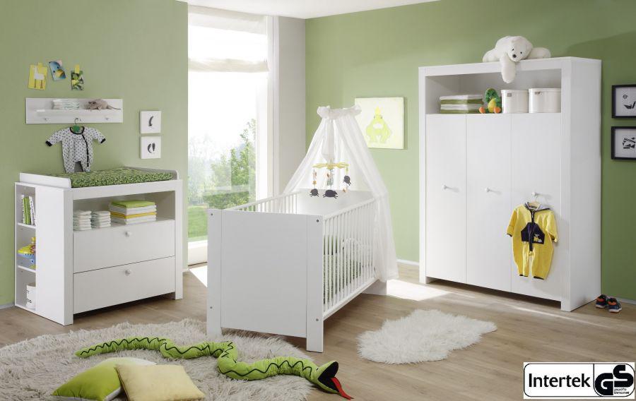 babyzimmer set olivia komplett wei 5 teilig. Black Bedroom Furniture Sets. Home Design Ideas