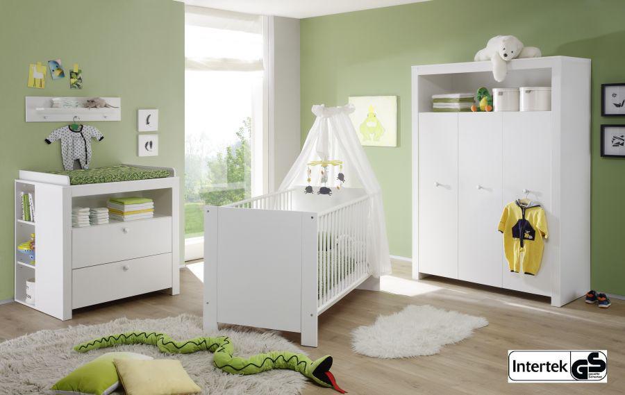 Babyzimmer set olivia komplett wei 5 teilig inkl applikationen in rosa kaufen bei oe online - Babyzimmer rosa weiss ...