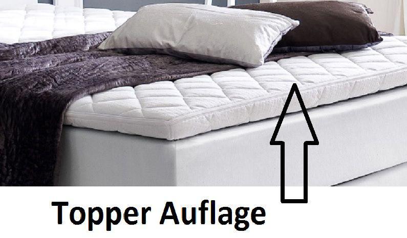 boxspringbett amondo 160 x 200 cm kunstleder wei 5 gang bonell federkern matratze kaufen bei. Black Bedroom Furniture Sets. Home Design Ideas