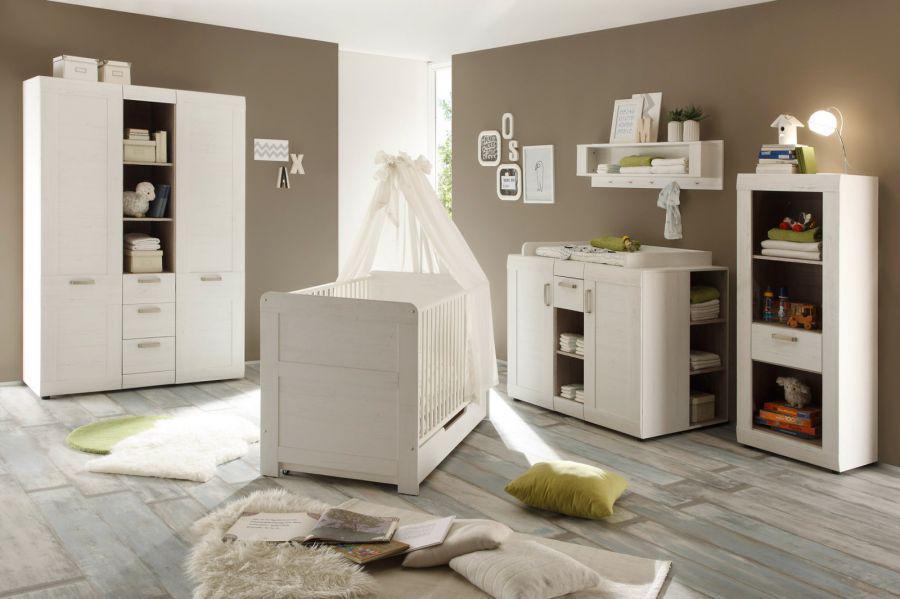 Babyzimmer Regal Stauraumelement Landi Anderson Pinie Weiss Kaufen