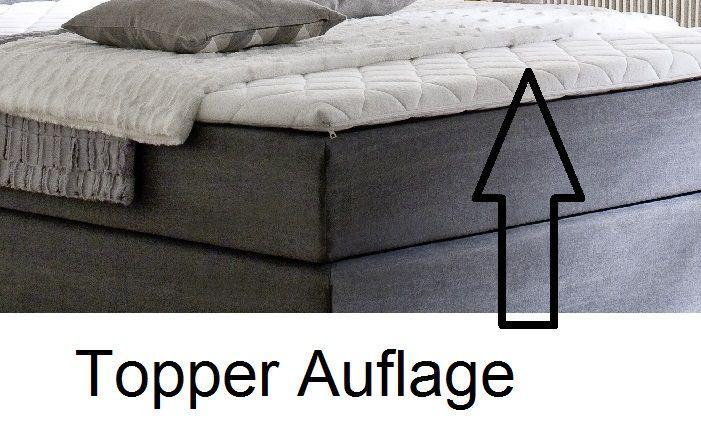 boxspringbett hotelbett jordan graphit grau 180 x 200 cm 7 zonen tonnentaschenfederkern matratze. Black Bedroom Furniture Sets. Home Design Ideas