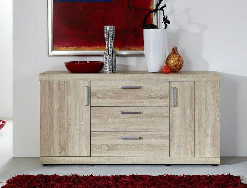 sideboard kommode fora sonoma eiche s gerau hell 160 x 84 cm kaufen bei oe online einrichten gmbh. Black Bedroom Furniture Sets. Home Design Ideas