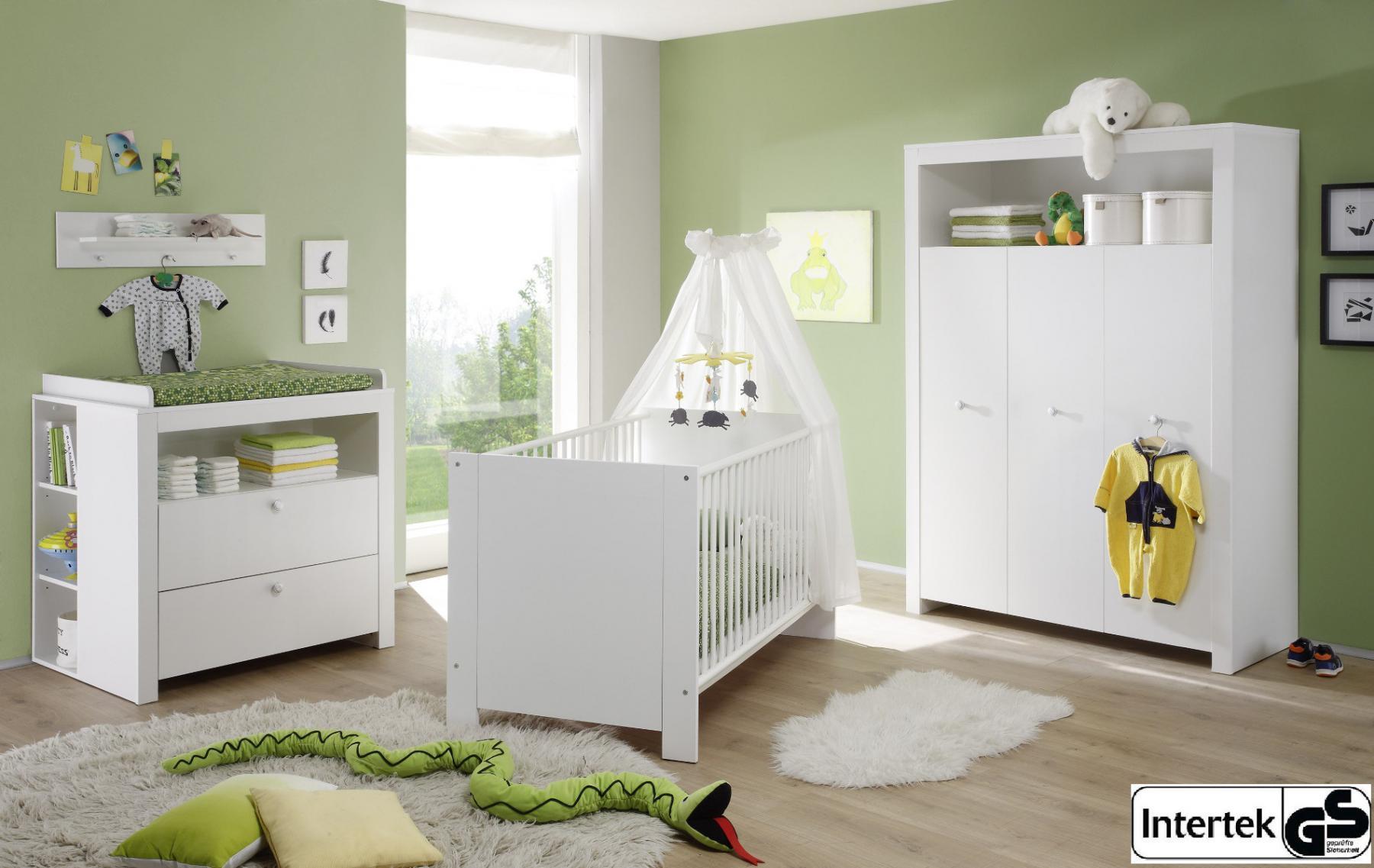 babyzimmer set olivia wei 3 teilig kleiderschrank. Black Bedroom Furniture Sets. Home Design Ideas
