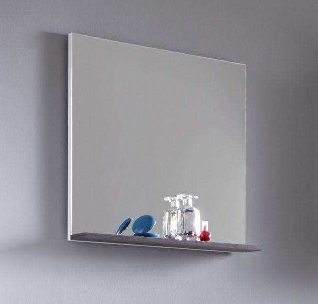 Badezimmer Spiegel weiß und Sardegna grau mit Ablage California ...
