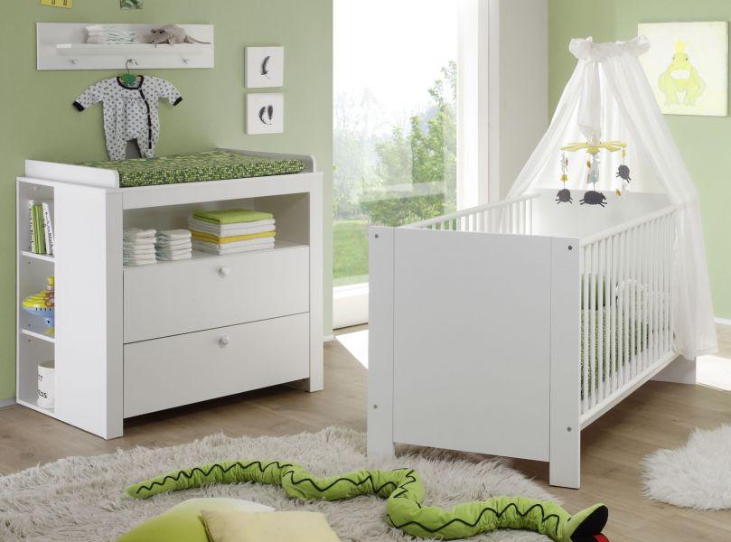 Babybett Und Wickelkommode : babyzimmer olivia in wei komplett set 4 teilig mit babybett wickelkommode mit regal und ~ Watch28wear.com Haus und Dekorationen