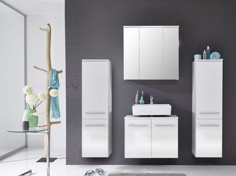 Badmöbel weiss hängend  Waschbeckenunterschrank Xara Badmöbel hängend weiß glänzend 70 x ...