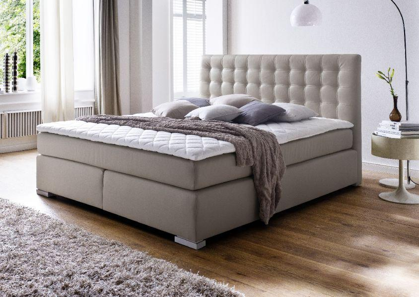 boxspringbett isabelle 200 x 200 cm leder optik muddy 7 zonen multi tonnentaschenfederkern. Black Bedroom Furniture Sets. Home Design Ideas