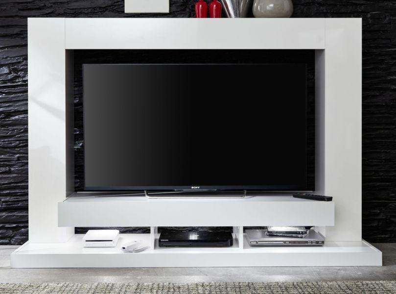 Medienwand weiss glanz fernsehschrank 164 cm ca 55 tv hifi m bel ttx05 kaufen bei oe online - Medienwand tv ...