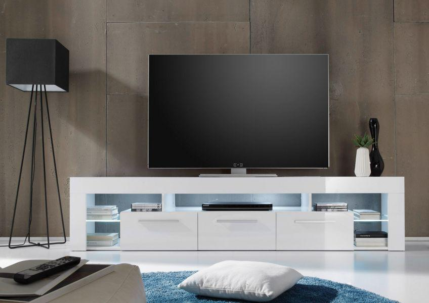 lowboard tv unterteil tv board count wei hochglanz 200 cm. Black Bedroom Furniture Sets. Home Design Ideas