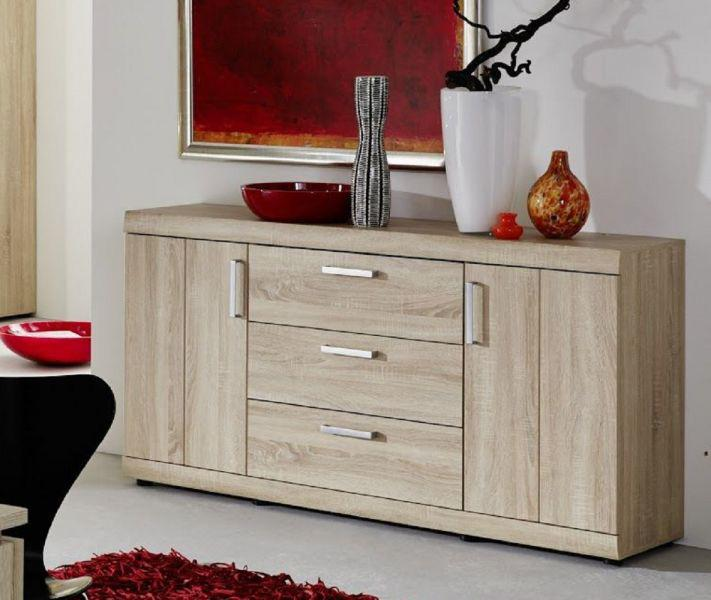 Sideboard kommode fora sonoma eiche s gerau hell 160 x 84 for Sideboard hohe 70 cm