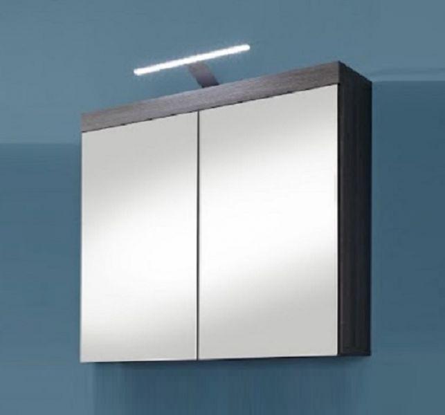 Spiegelschrank Miami Badezimmer Schrank Sardegna rauchsilber grau ...
