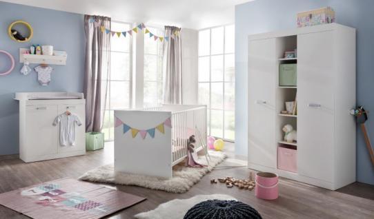 Babyzimmer komplett Set Ronja in weiß 3-teilig