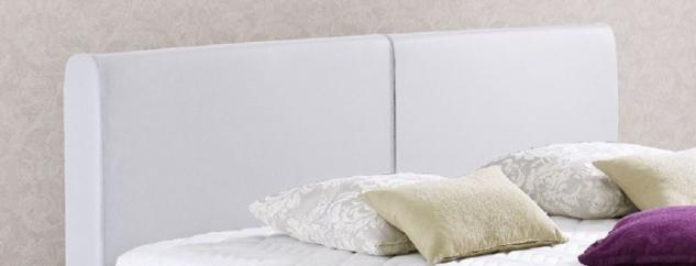 Boxspringbett Amondo 180 x 200 cm Leder Optik weiß 5-Gang-Bonell Federkern Matratze - Vorschau 2