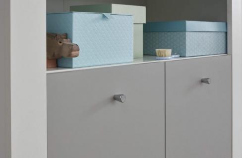 Babyzimmer Wilson komplett Set 2-teilig weiß und grau mit Wickelkommode und Babybett - Vorschau 2
