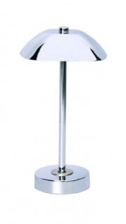 LED Tischleuchte in Chrom inkl. LED Leuchtmittel Leselampe ca. 33 cm hoch