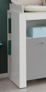 Babyzimmer Wilson komplett Set 2-teilig weiß und grau mit Wickelkommode und Babybett - Vorschau 3