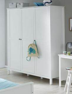 Babyzimmer Ole komplett Set 4-teilig weiß mit Wickelkommode Babybett XXL-Kleiderschrank und Wandregal - Vorschau 4