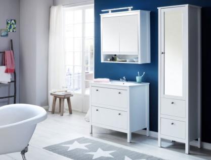 Badmöbel Set Ole weiß Landhaus 3-teilig komplett mit Keramik-Waschbecken - Vorschau 5