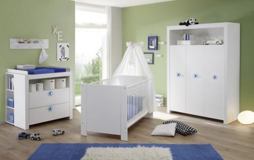 Babyzimmer Set Olivia komplett weiß 5-teilig Kleiderschrank Babybett Wickelkommode - Vorschau 4