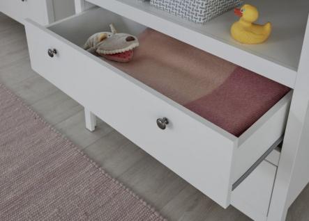 Babyzimmer Ole komplett Set 4-teilig weiß mit Wickelkommode Babybett XXL-Kleiderschrank und Wandregal - Vorschau 5