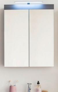 Badmöbel Spiegelschrank Amanda in Hochglanz grau Badschrank 2-türig 60 x 77 cm - Vorschau 2