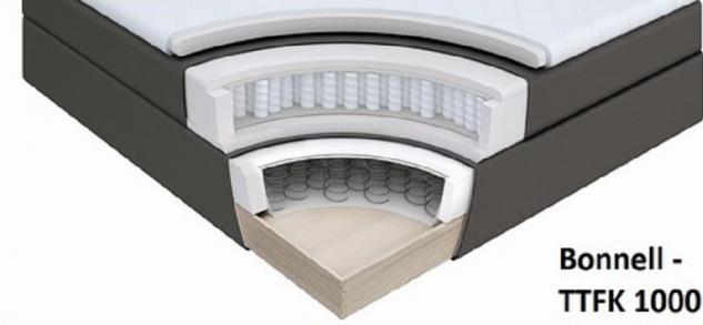 Boxspringbett Isabelle 180 x 200 cm Leder Optik schwarz 7 Zonen Multi Tonnentaschenfederkern Matratze - Vorschau 4