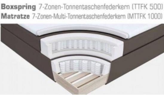 Boxspringbett Amondo 180 x 200 cm Leder Optik schwarz 7 Zonen Tonnentaschenfederkern Matratze - Vorschau 5