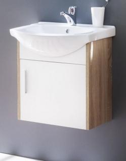 Waschbeckenunterschrank Komplett Mit Keramik Waschbecken Weiss Und