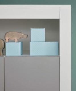Babyzimmer Wilson komplett Set 2-teilig weiß und grau mit Wickelkommode und Babybett - Vorschau 4