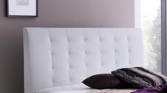Boxspringbett Claudine 180 x 200 cm Leder Optik weiß 5-Gang-Bonell Federkern Matratze Hotelbett - Vorschau 2