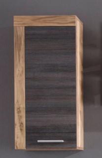 Badschrank Hängeschrank Cancun Nussbaum Satin mit Touchwood dunkel 36 x 79 cm