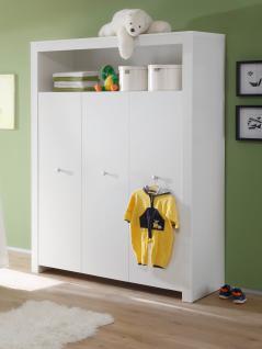 Babyzimmer Set Olivia weiß 3-teilig Kleiderschrank Wickelkommode Babybett - Vorschau 2