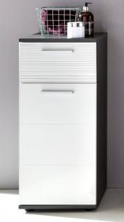 Bad Kommode Unterschrank Hochglanz Weiss Und Grau 63 X 83 Cm Badmobel