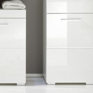 Badmöbel Set Amanda Hochglanz weiß tiefgezogen Spiegelschrank + Unterschrank inkl. Beleuchtung - Vorschau 3
