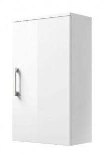 Badmöbel Hängeschrank Rima in Hochglanz weiß Badschrank hängend 40 x 68 cm Badezimmer